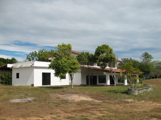 View of white cliff house at Boca Chica Panama